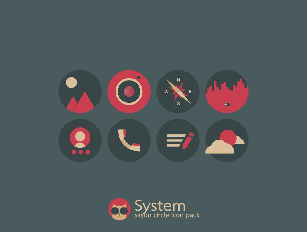 Sagon Circle Icon Pack: Dark UI  poster 7