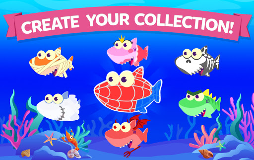 Merge Shark: Cute Fun Evolution Tap Doo  screenshots 10