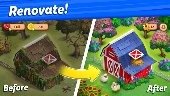 Farmscapes 1.2.5.0 APK + Мод (Unlimited money) за Android