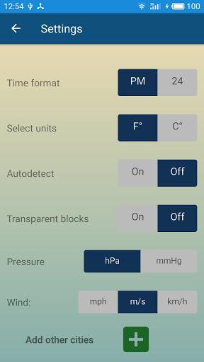 Weather forecast & transparent clock widget  Screenshots 6
