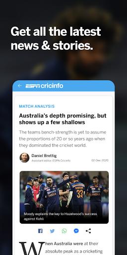 ESPNCricinfo - Live Cricket Scores, News & Videos 7.0 Screenshots 4