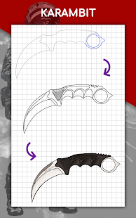 How to draw weapons step by step, drawing lessons 1.6.4 Screenshots 14