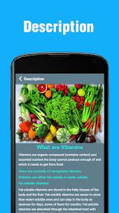 Vitamins - Sources, Deficiency & Health Tips 0.0.2 Screenshots 3