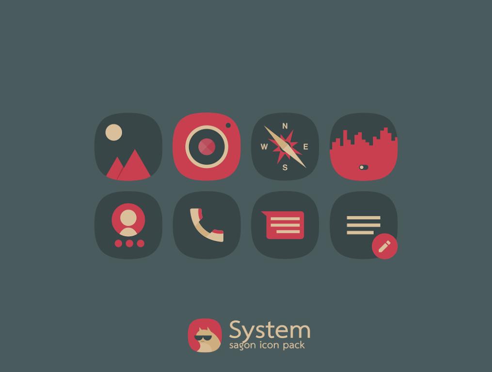 Sagon Icon Pack: Dark UI  poster 7