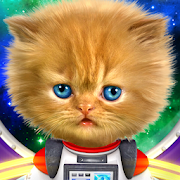 Talking baby cat in space