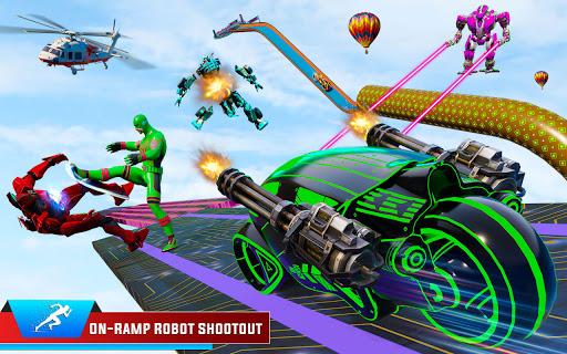 Speed Hero Robot Ramp Bike Transform Robot Games 1.7 screenshots 4