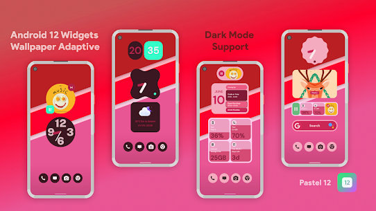 Pastel 12 – Android 12 Widgets for KWGT Pro For Android 3