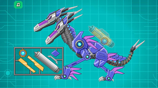 Robot Double Head Pterosaur modiapk screenshots 1