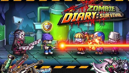 Tải Zombie Diary 1.3.2 (mod tiền không giới hạn) 1
