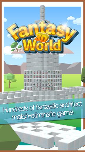 Stacker Mahjong 3D  II - Fantasy World apktreat screenshots 1