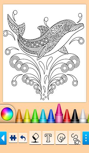 Dolphin and fish coloring book 16.3.2 screenshots 3