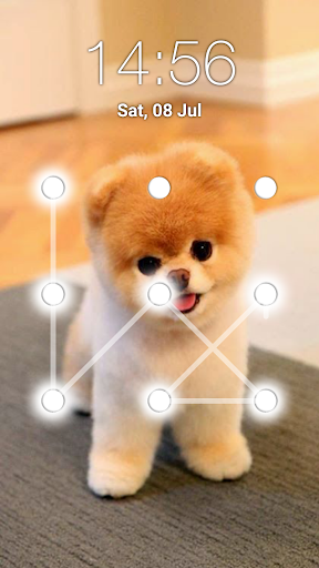 puppy dog pattern lock screen screenshot 2