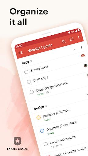 Todoist: To-Do List, Tasks & Reminders  screenshots 1