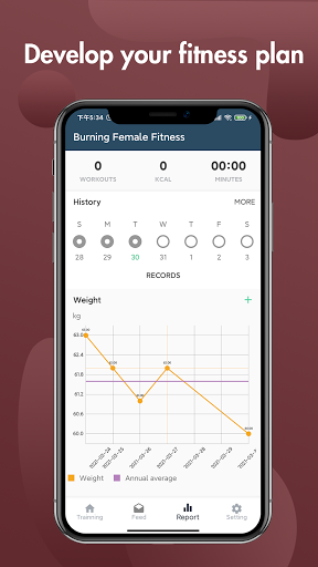 Burning Female Fitness screen 2