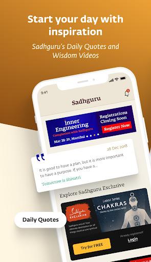 Sadhguru - Yoga, Meditation & Spirituality apktram screenshots 1