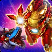 Dino War Iron T-Rex VS Mosa