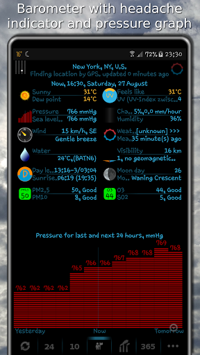 Weather app & widget with barometer: eWeather HDF  Screenshots 7