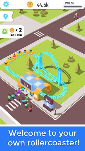 Idle Roller Coaster modiapk screenshots 1