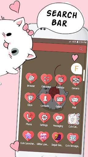 Cute Cat Launcher  screenshots 1
