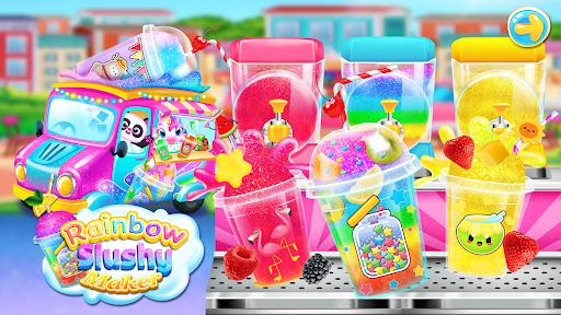 Rainbow Frozen Slushy Truck: Ice Candy Slush Maker  screenshots 7