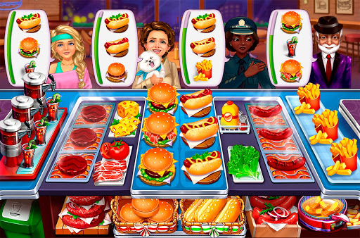 Hell's Cooking: crazy burger, kitchen fever tycoon apklade screenshots 1