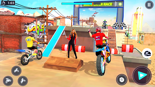 Bike Stunt Racer 3d Bike Racing Games - Bike Games apkslow screenshots 13