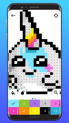 Color By Number - Unicorns Pixel Art apkdebit screenshots 1