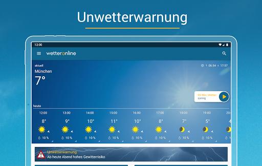 RegenRadar - mit Unwetterwarnung apktram screenshots 10