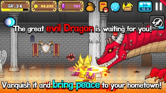 Tap Knight : Dragon's Attack Mod Apk 1.0.17 (Free Upgrade For Equipment) 8