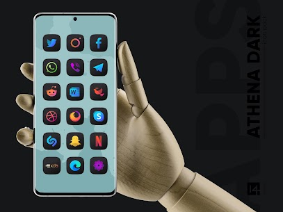 Athena Dark Icon Pack APK [PAID] Download for Android 4