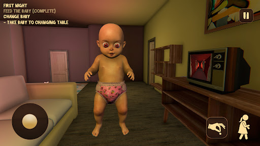Baby in Pink Horror Game: Scary Babysitting games 0.6 screenshots 4