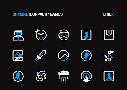 SkyLine Icon Pack : LineX Blue Edition v2.8 [Patched] 3
