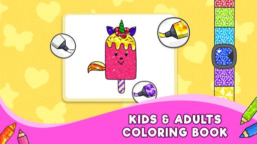 Unicorn Glitter Coloring Book: Coloring Unicornud83eudd84 4.0.3 screenshots 6