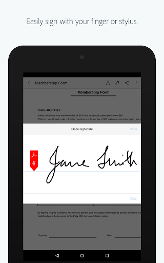 Adobe Fill & Sign: Easy PDF Doc & Form Filler. 1.6.0 Screenshots 13