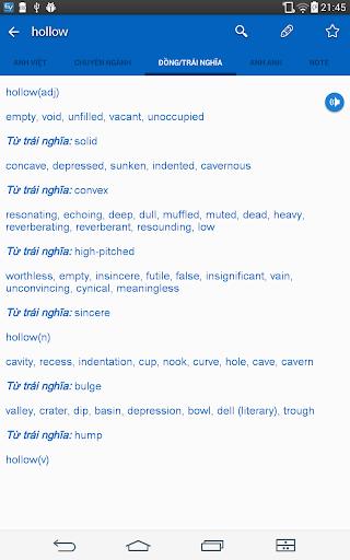 Dich tieng Anh - Tu dien Anh Viet TFlat 7.6.0 Screenshots 11