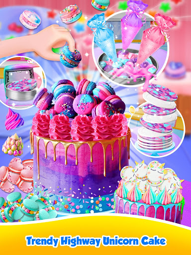 Unicorn Food - Sweet Rainbow Cake Desserts Bakery 3.1 screenshots 3
