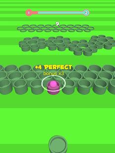 Basket throw: cup pong ball game. Toss & dunk it!