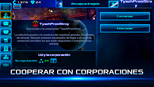 Idle Space Business Tycoon APK MOD (Diamantes Infinitos) 3