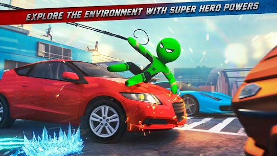 Stickman Ice Hero Crime City Mod Apk 1.6 (Ads Free) 9
