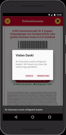 Gutscheine fu00fcr McDonald's 0.0.9 Screenshots 4