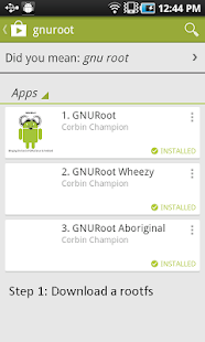 GNURoot Screenshot