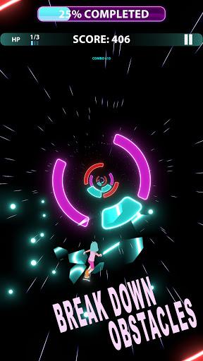 Code Triche Music Surfer - offline tap music games. Dance now (Astuce) APK MOD screenshots 4