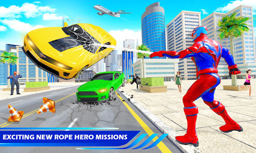Flying Police Robot Rope Hero: Gangster Crime City  screenshots 4