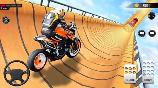 Impossible Mega Ramp Moto Bike Rider Stunts Racing modavailable screenshots 14