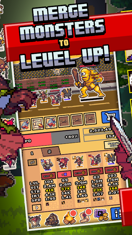 Idle Monster Frontier - team rpg collecting game  poster 2
