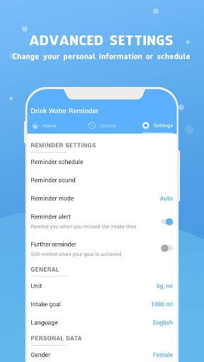 Water Reminder - Remind Drink Water 15.0 Screenshots 7