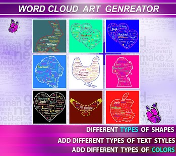 Word Cloud Art Generator Screenshot
