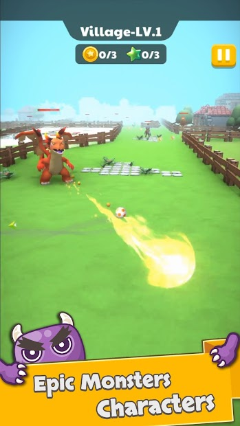 Monster Kick - Casual Soccer screenshot 1