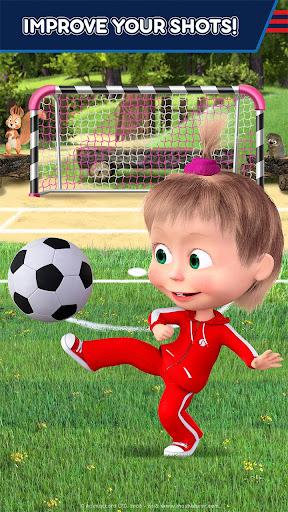 Masha and the Bear: Football Games for kids Apkfinish screenshots 6