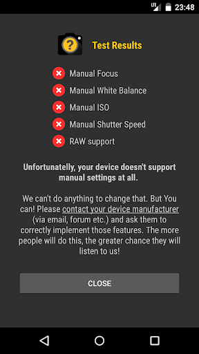 Manual Camera Compatibility 2.5 Screenshots 9